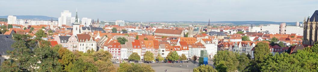 Panorama von Erfurt