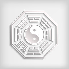 Chinese Bagua symbol on white