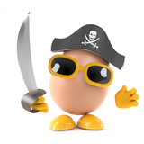 Pirate Egg with cutlass