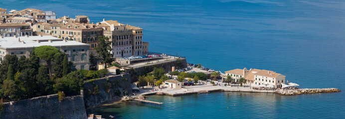 Top view on the city of Corfu Kerkyra