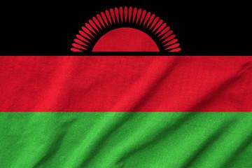 Ruffled Malawi Flag