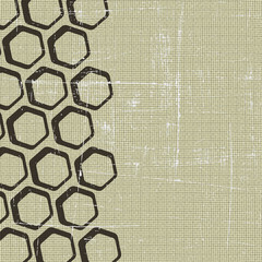 Abstract retro grunge honeycomb background