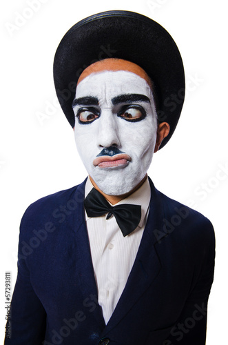 Funny man with face paint