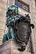 Bavarian lion statue at Munich Residenz palace