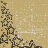 Abstract retro grunge star background