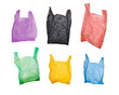 collection of various plastic bags isolated on white background - 57294891