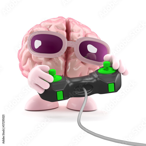 Brain plays videogames
