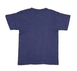 Dark blue tshirt.