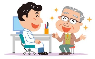 医師 高齢者 おじいさん 医療