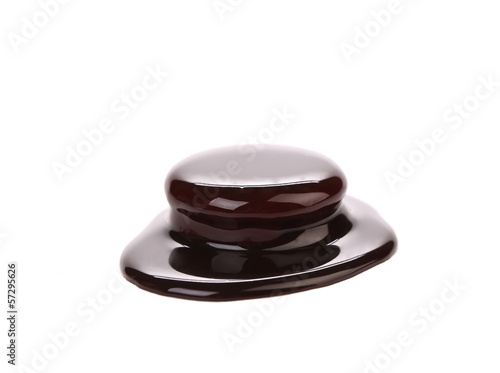Biscuit sandwich in chocolate syrup