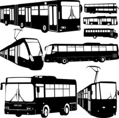 urban transportation collection 1 - vector