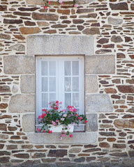 Window with Flower Decoration