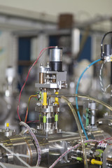 Important electronic and mechanical parts in ION Accelerator
