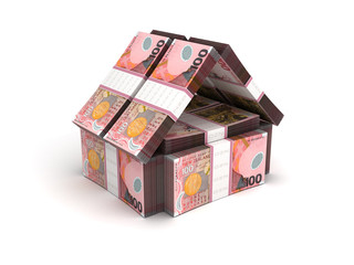 Real Estate Concept New Zealand Dollar