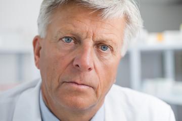Earnest looking doctor