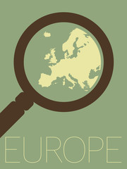 Vector Minimal Design - Europe Zoomed