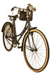 Vintage nineteenth century bike isolated on white