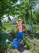 Confident young gardener