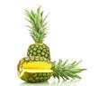 Ananasy na białym tle