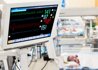 Patients monitor in neonatal ICU
