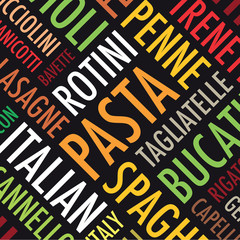 square pasta background set
