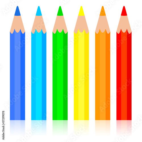 Set of colored pencil, vector illustration.