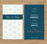 wedding card invitation, pattern vector design