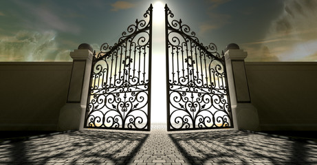 Heavens Open Ornate Gates