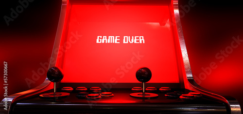 canvas print picture Arcade Game Game Over