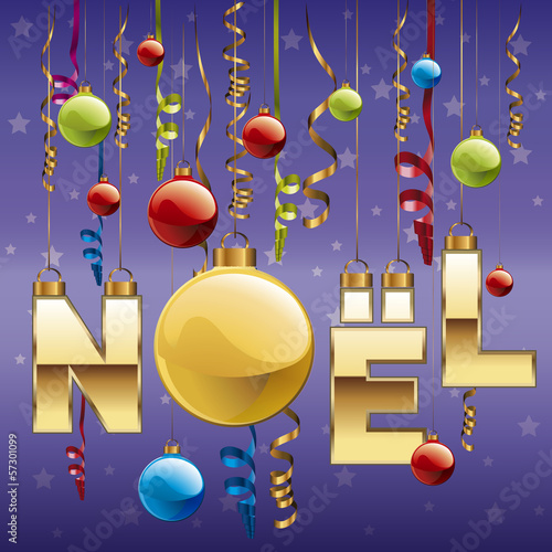 NOEL_Boules Fond Bleu