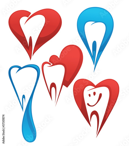 vector collection of healthy teeth