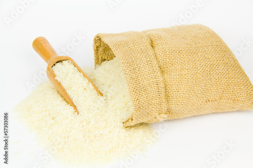 rice in sack