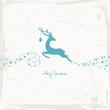 Reindeer, Christmas Ball & Stars Beige/Retro Scratches