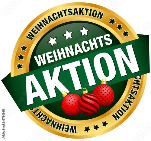"""Button Banner """"Weihnachtsangebot"""" Kugeln rot/grün/gold"""