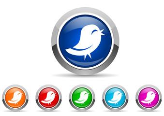 twitter icon vector set