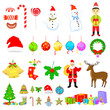 vector illustration of Christmas vintage icon
