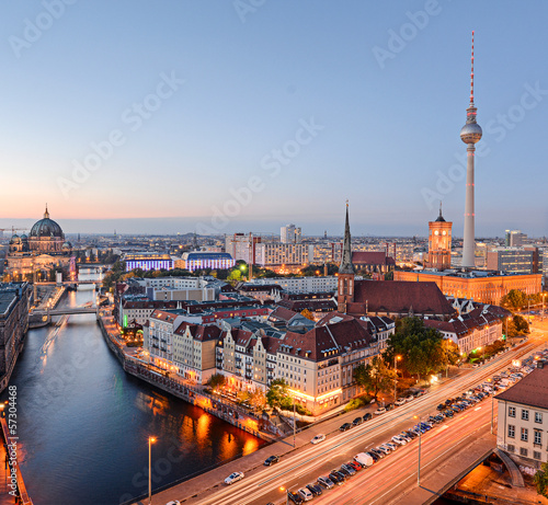 Fototapeta Blick über Berlin