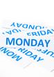 Monday word texture