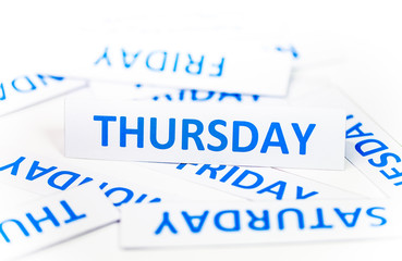 thursday word texture background