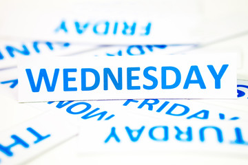 wednesday word texture background