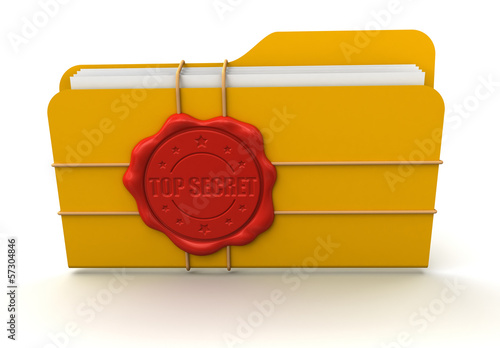 Folder Top Secret (clipping path included)