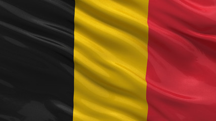Flag of Belgium waving in the wind