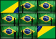 Brazilian Man on Flag