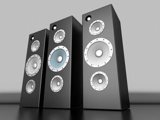 Lautsprecher Reihe