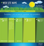 Modern web site nature design layout
