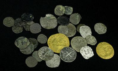 Monnaies médiévales en or, argent, billon