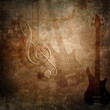 music retro styled grunge background