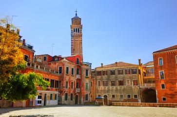 Venice, Italy. Venetian old architecture