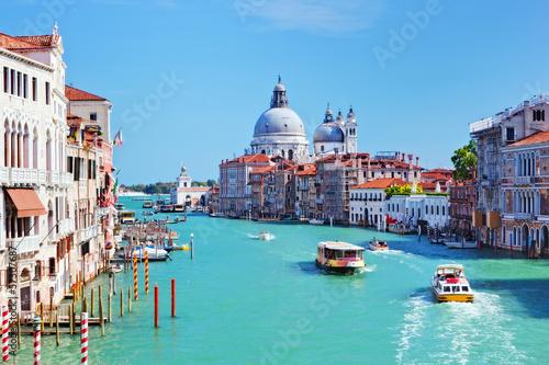 Naklejka Wenecja, Włochy. Canal Grande i Bazylika Santa Maria della Salute