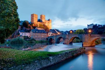 Typical German medieval castle: Runkel, Hesse, Germany.